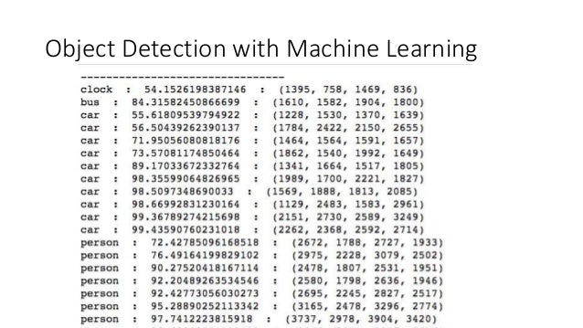 Object Detection with Machine Learning