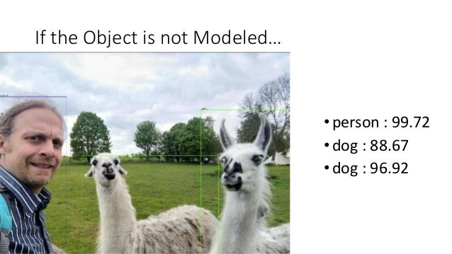 If the Object is not Modeled… •person : 99.72 •dog : 88.67 •dog : 96.92
