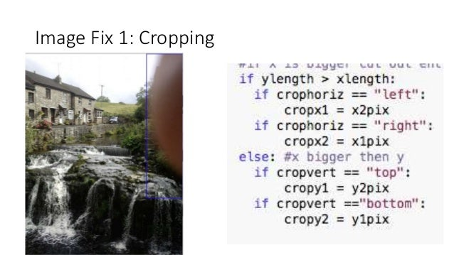 Image Fix 1: Cropping