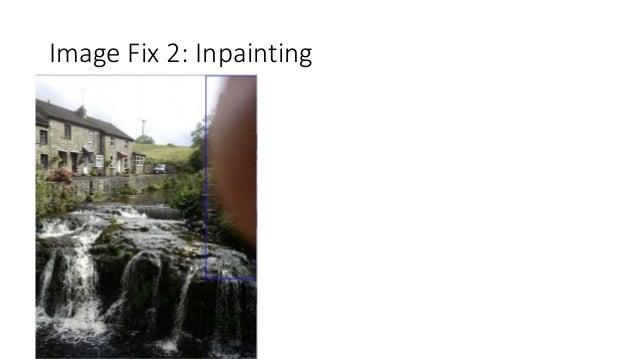 Image Fix 2: Inpainting