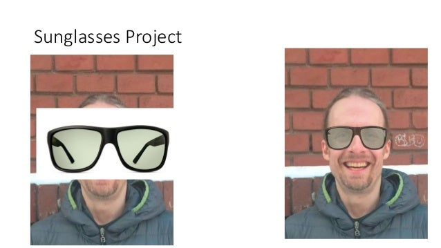 Sunglasses Project 1. Remove Background