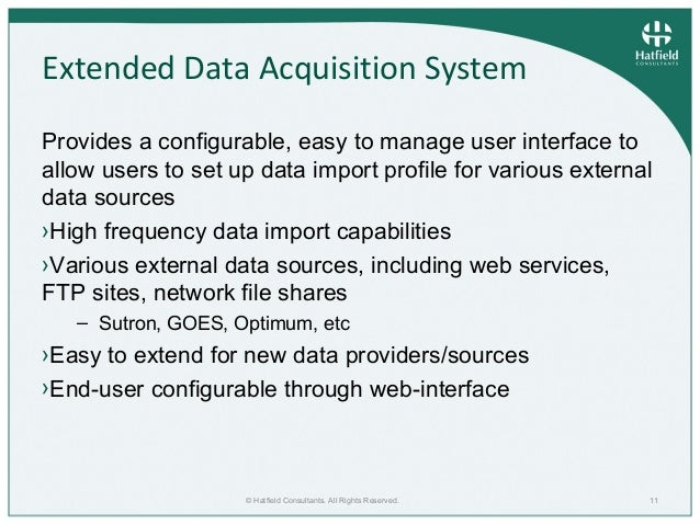 Capability Data Acquisition System : Extending the aquarius data acquisition analysis