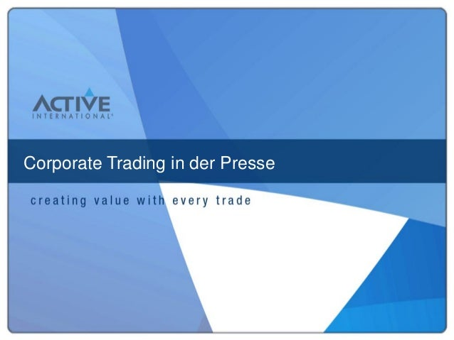 Corporate Trading in der Presse