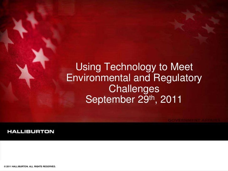 Using Technology to Meet                                           Environmental and Regulatory                           ...