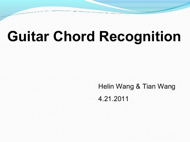 guitar chord detection
