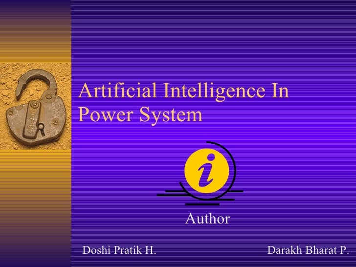 Artificial Intelligence In Power System Author Doshi Pratik H. Darakh Bharat P.