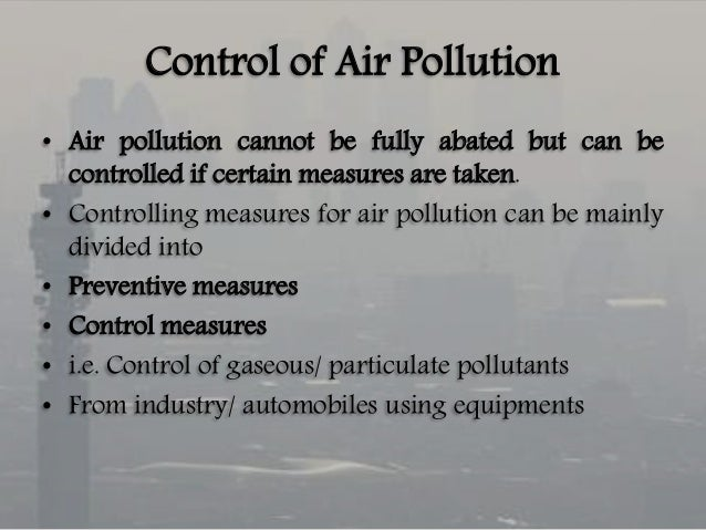 Environmental Pollution, Problems and Control Measures Paper