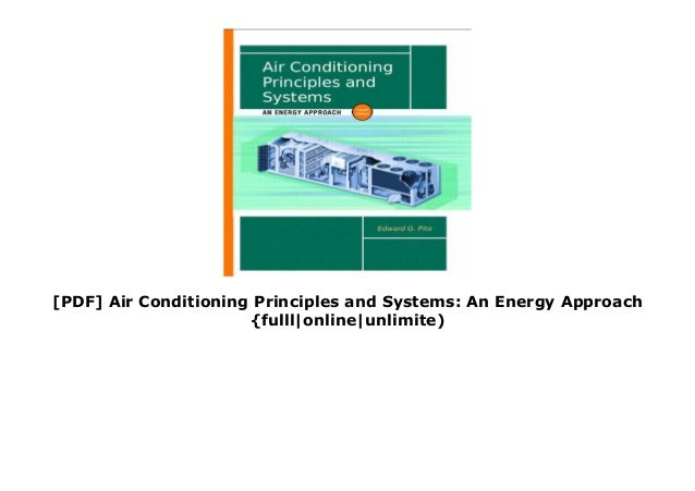 Pdf Air Conditioning Principles And Systems An Energy Approach Fu