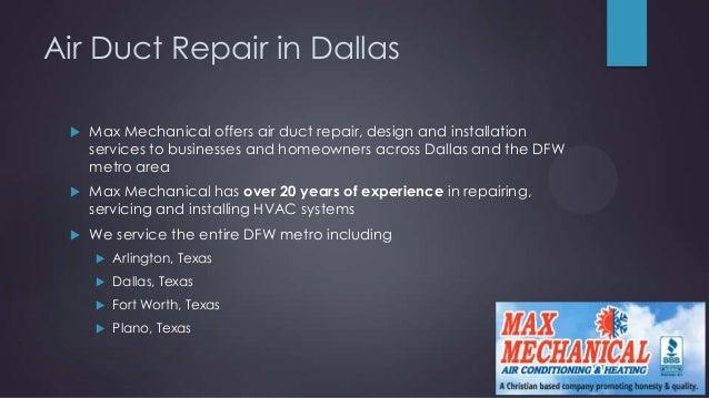 Air Duct Repair Dallas
