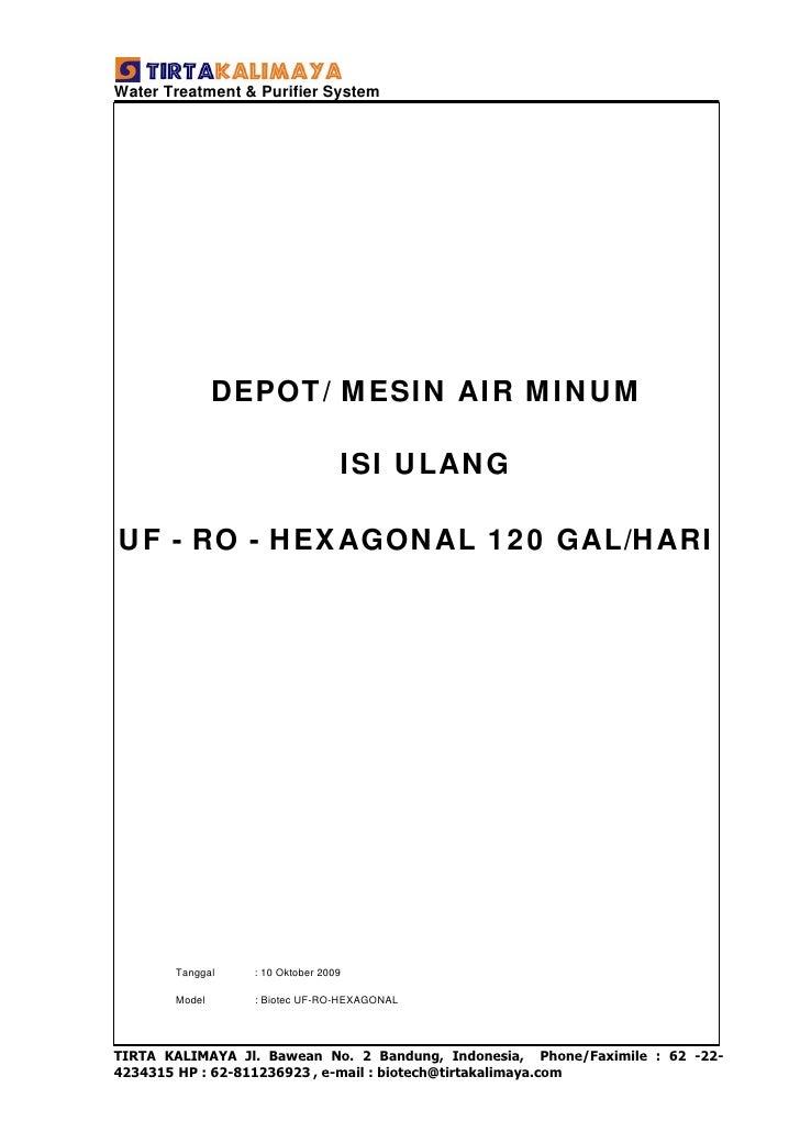 Water Treatment & Purifier System                    DEPOT/ MESIN AIR MINUM                                   ISI ULANG  U...