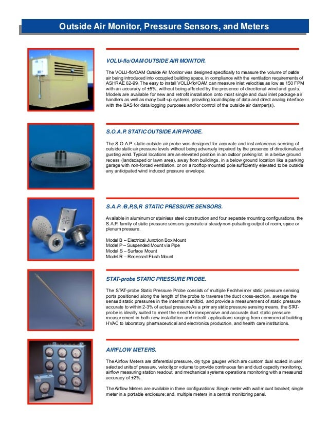 Excellent Airflow Measurement & Control Technical Reference: The Air …