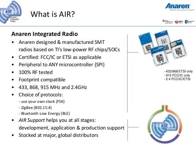 Anaren Integrated Radio Air Module Introduction