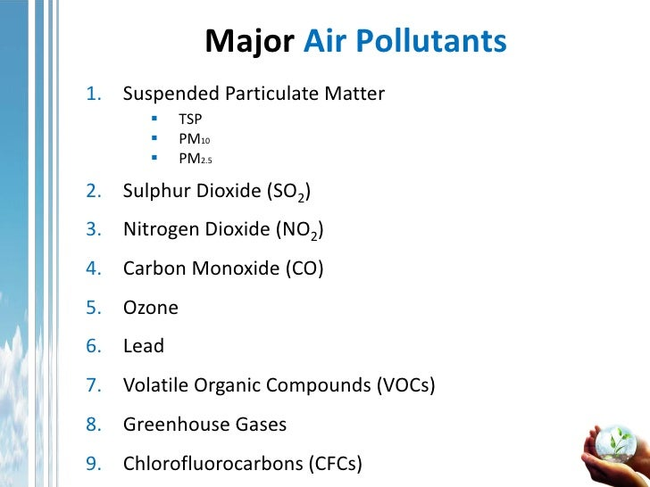 The anthropogenic effects of pollutants