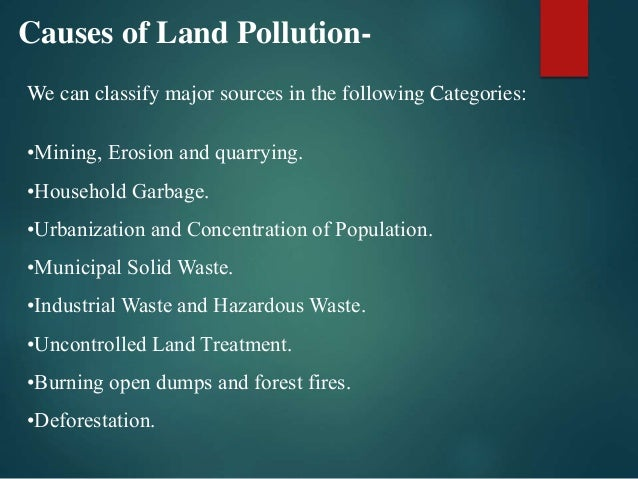 major sources of land pollution