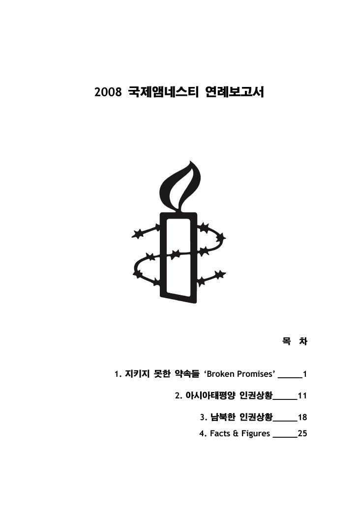 2008 국제앰네스티 연례보고서