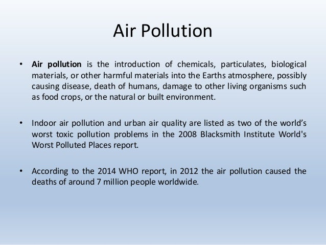 an introduction to the issue of cairo air pollution General introduction to enviromental pollution environmental sciences essay of pollution would be air and pollution is a very serious issue and.