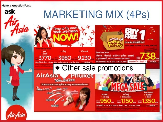 marketing communication air asia Airasia's marketing strategy serves as a good example of this principle the malaysian airline doesn't only advertise on traditional mediums such as radio or television, but also on social media channels.