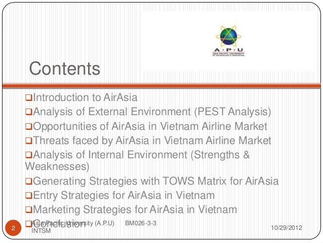 internal external strategic environmental analysis malaysia airlines airasia Report graphical overveiw 4 3 0 malaysian airlines – main strategic issues malaysia  analysis of airasia in  internal and external analysis.