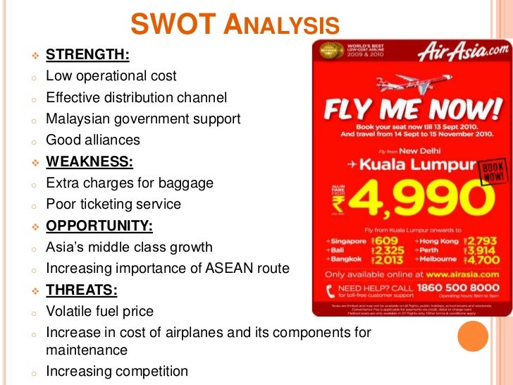 swot matrix of airasia Swot analysis of nike strengths the biggest strength of nike is that it is an extremely competitive organization with its approach of just do it slogan for its brand epitomizing its attitude towards business.