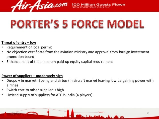 bargaining power of supplier of airasia With airasia group award winning products world's best low-cost airline premium cabin and strong bargaining power with vendors, suppliers, airport authorities and.