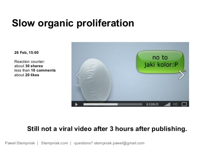 Slow organic proliferation    26 Feb, 15:00    Reaction counter:    about 30 shares    less than 10 comments    about 20 l...