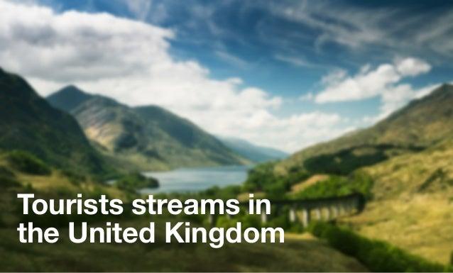 Tourists streams inthe United Kingdom