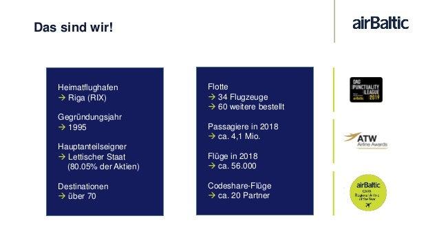 Unsere Flotte Bombardier Q400 NextGen Airbus A220-300 Boeing 737-300 & -500 Anzahl der Sitzplätze: 145 Anzahl der Sitzplät...
