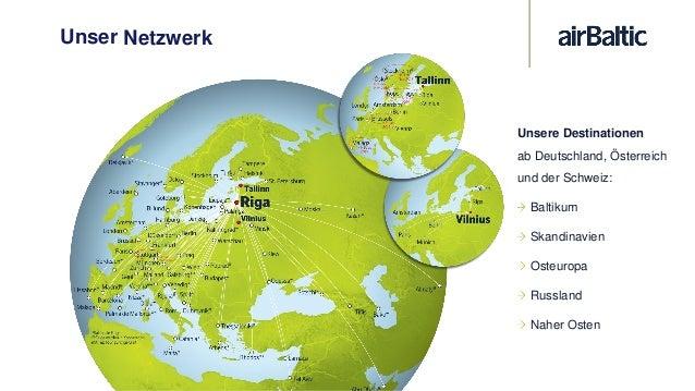 """Unser Drehkreuz – Flughafen Riga Kurze und schnelle Umsteigezeiten (ab 30 min) """"Primeclass"""" Business Lounge zugänglich mit..."""