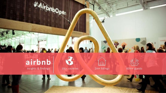 airbnb insights & findings 191+ countries 2m+ listings 60m+ guests