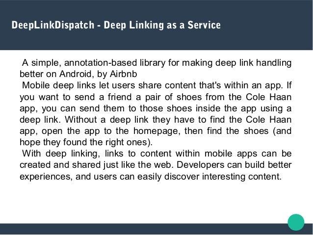 DeepLinkDispatch - Deep Linking as a Service