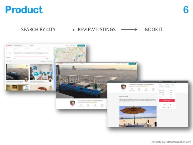 Product 6 REVIEW LISTINGS Template by PitchDeckCoach.com SEARCH BY CITY BOOK IT!