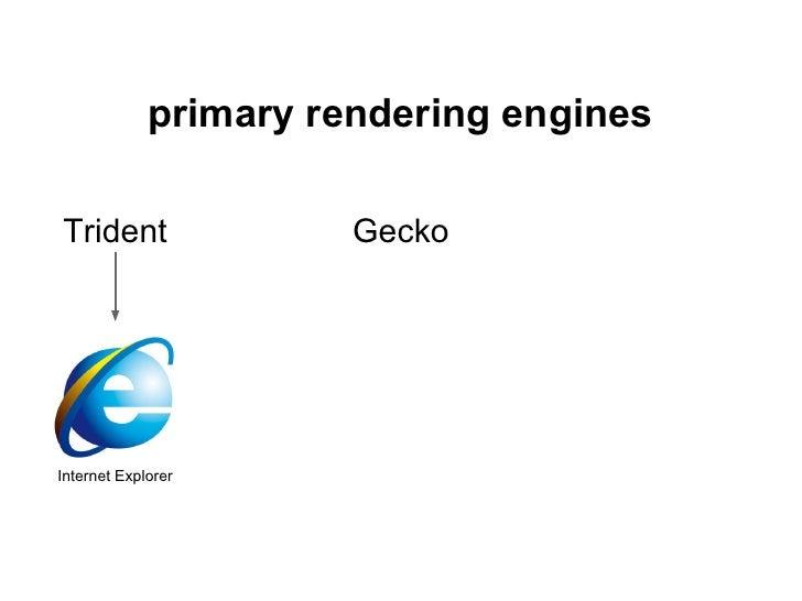 primary rendering enginesTrident                GeckoInternet Explorer