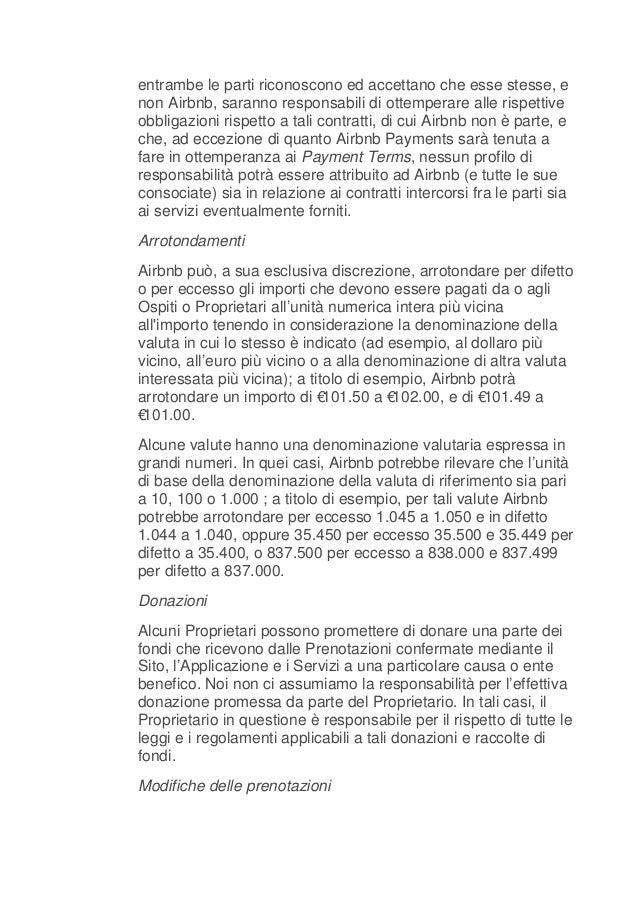 Airbnb italia termini del servizio for Centro soluzioni airbnb