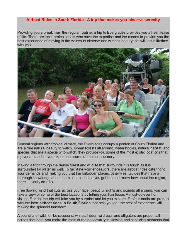 Airboat tours in south florida | Airboat Rides