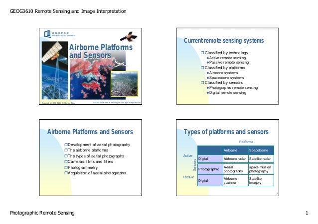 GEOG3610 Remote Sensing and Image Interpretation                                                                          ...