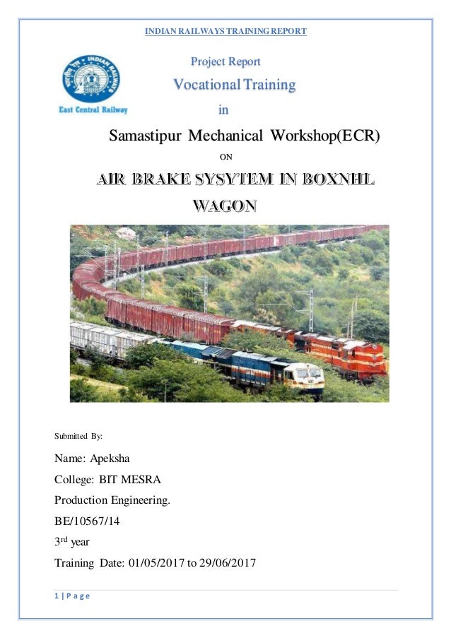 Air brake system in boxnhl wagon ,indian railways