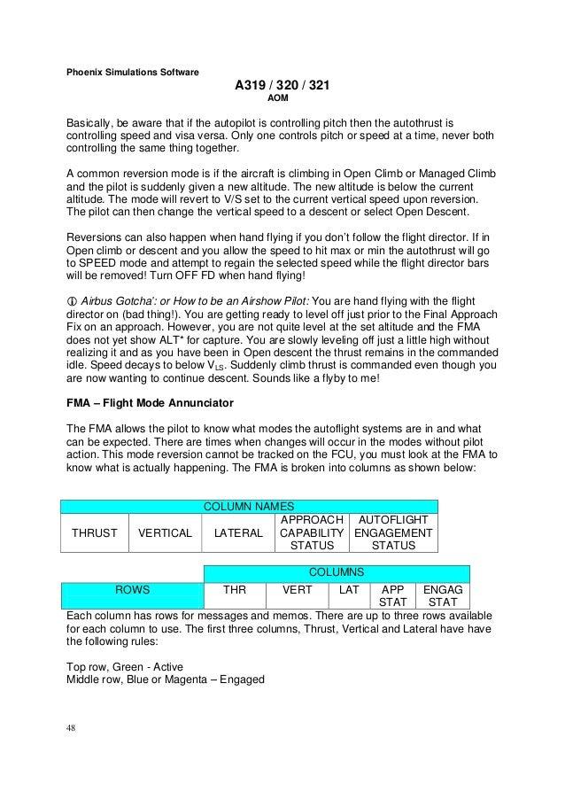 Phoenix Simulation Software A319 / A320 / A321 System Manual