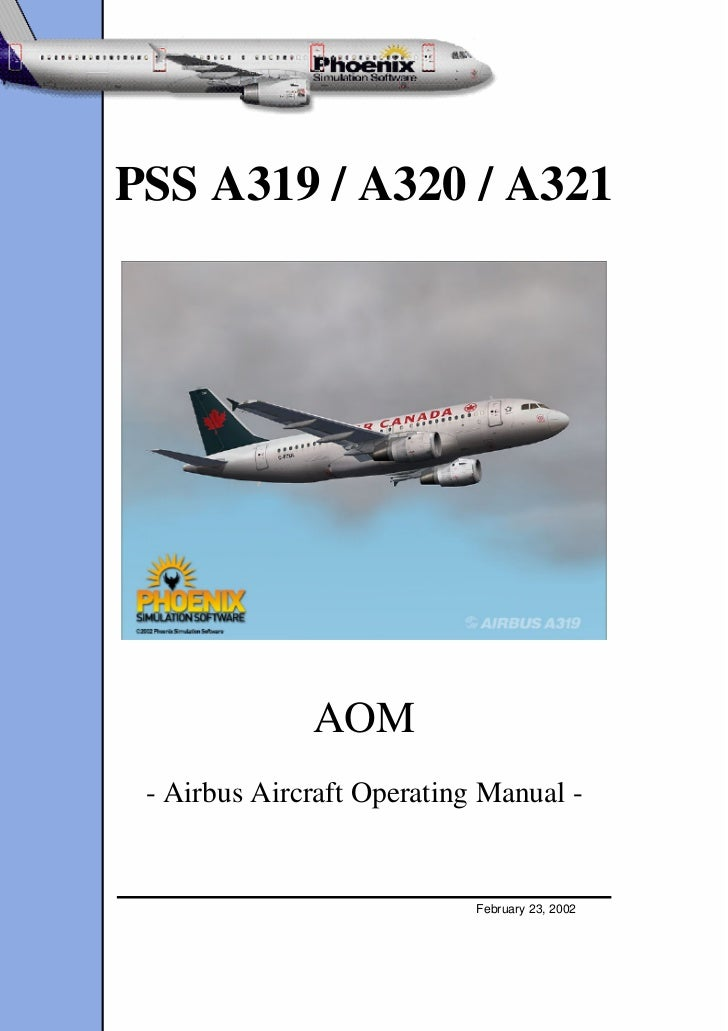Airbus a320 aircraft operation manual