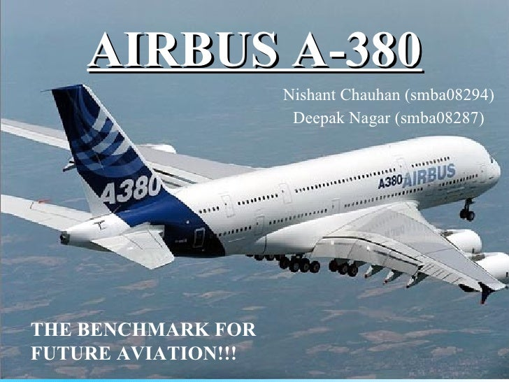 AIRBUS A-380 Nishant Chauhan (smba08294) Deepak Nagar (smba08287) THE BENCHMARK FOR FUTURE AVIATION!!!