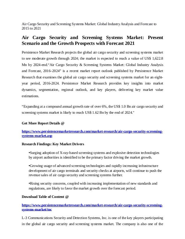 air cargo security thesis
