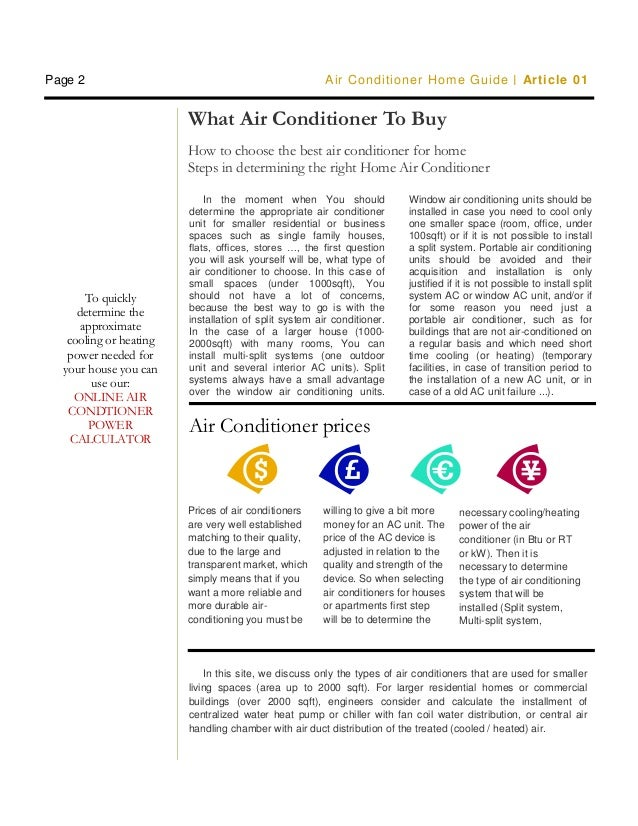 Air conditioner buying guide for beginners
