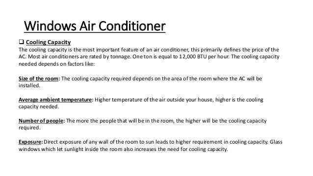 Air conditioning window air conditioner
