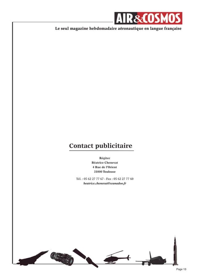 Page 13Contact publicitaireRégitecBéatrice Chenevat4 Rue de l'Orient31000 ToulouseTél. : 05 62 27 77 67 - Fax : 05 62 27 7...