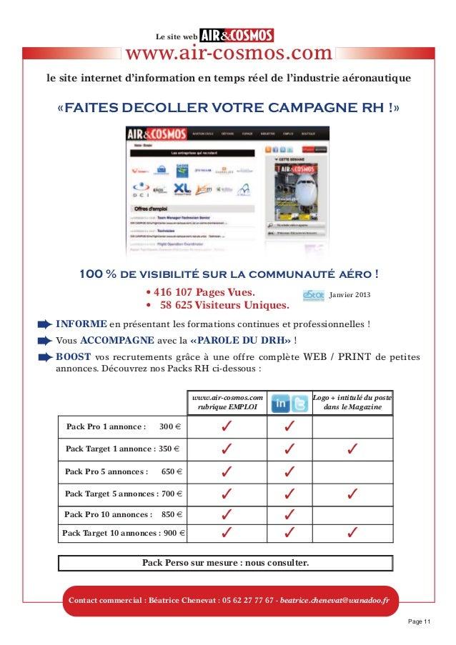 www.air-cosmos.comle site internet d'information en temps réel de l'industrie aéronautiqueLe site webPage 11INfORMe en pré...