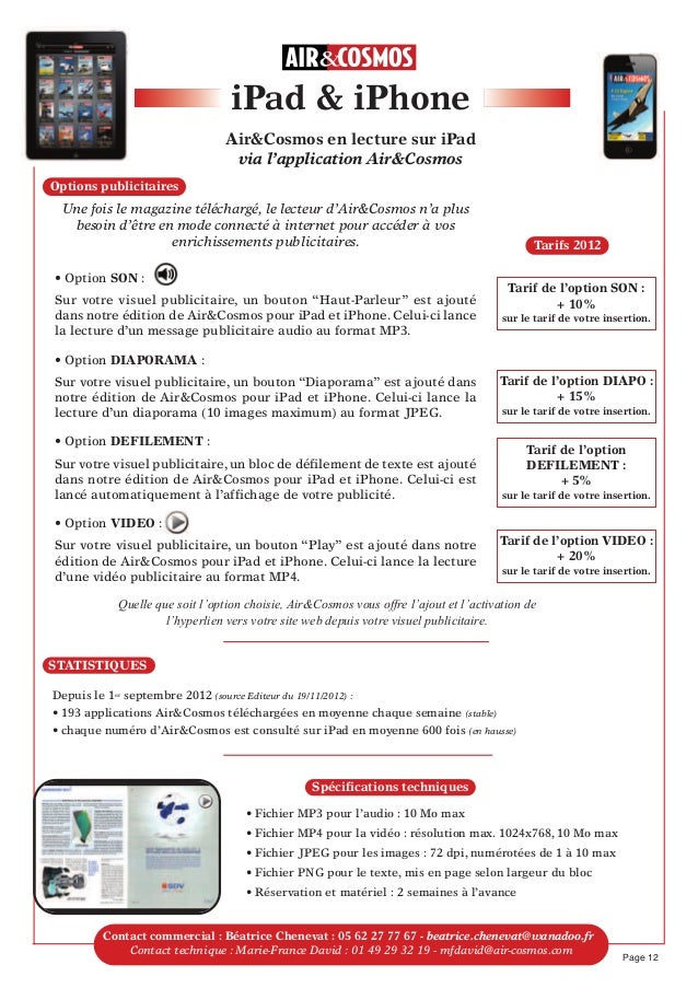 Page 12Contactcommercial : Béatrice Chenevat : 05 62 27 77 67 - beatrice.chenevat@wanadoo.frContact technique : Marie-Fra...