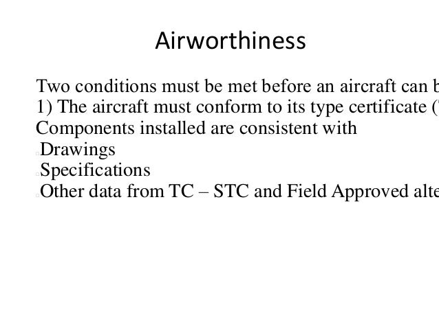 Aircraft maintenance and manuals week 2 airworthiness certificate yadclub Gallery