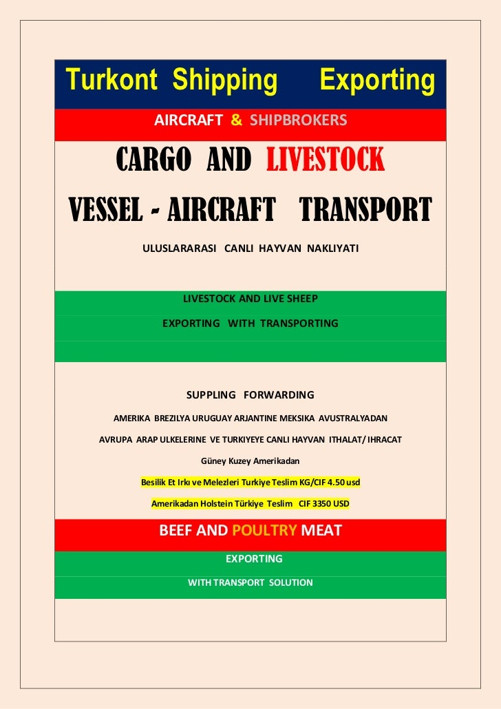 Turkont Shipping                                          Exporting             AIRCRAFT & SHIPBROKERS     CARGO AND LIVES...