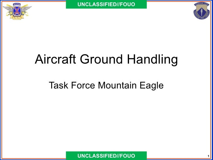 UNCLASSIFIED//FOUOAircraft Ground Handling  Task Force Mountain Eagle        UNCLASSIFIED//FOUO    1