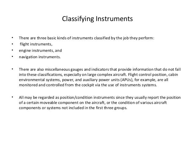 Aircraft instrumentsystems