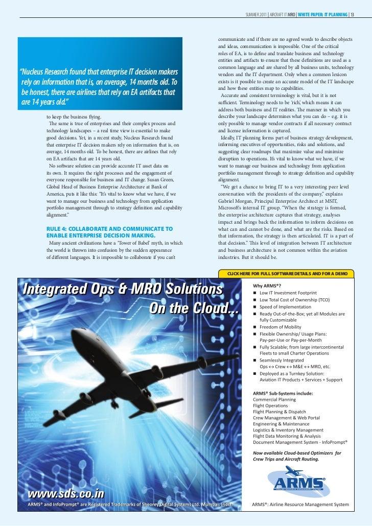 Aircraft Maintenance Management MSc Course, City.